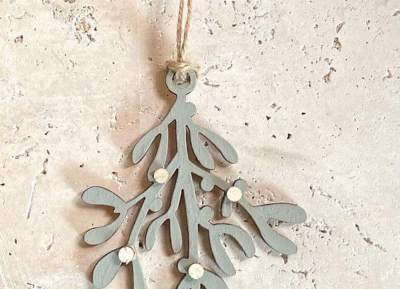 Plywood Mistletoe Sprig (Hand-Painted)