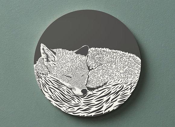 Sleeping Fox Pack of 4 Coasters