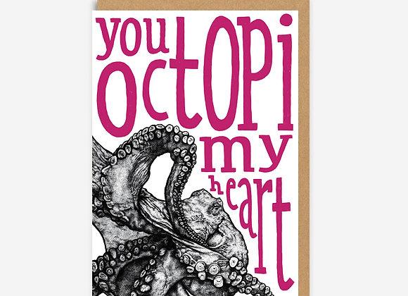 Octopus Love Card
