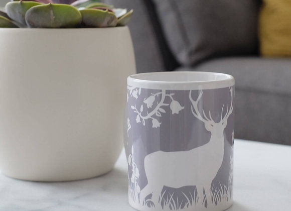 Stag in Bluebell Woods Mug