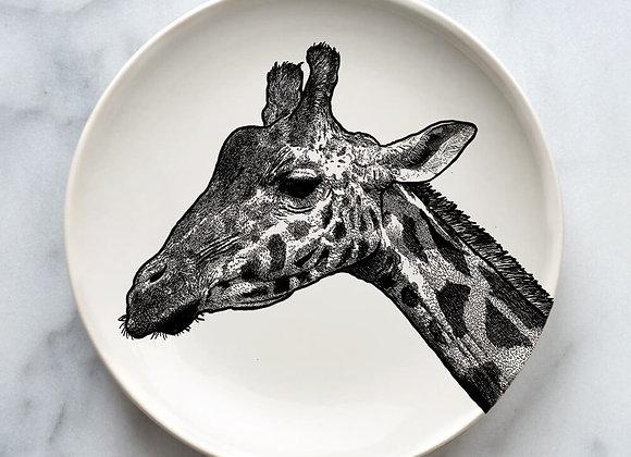 Illustrated Giraffe Plate