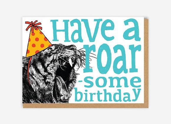 Roar-Some Tiger Birthday Card