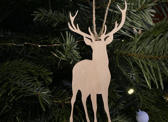 Plywood Stag Decoration