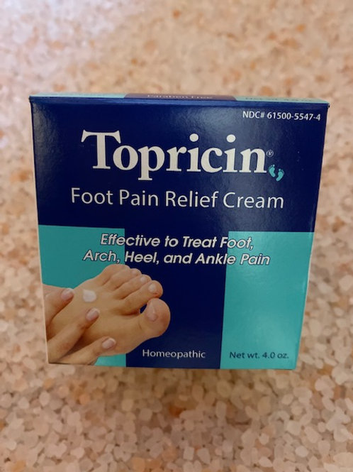 Topricin Pain Relief Foot Cream