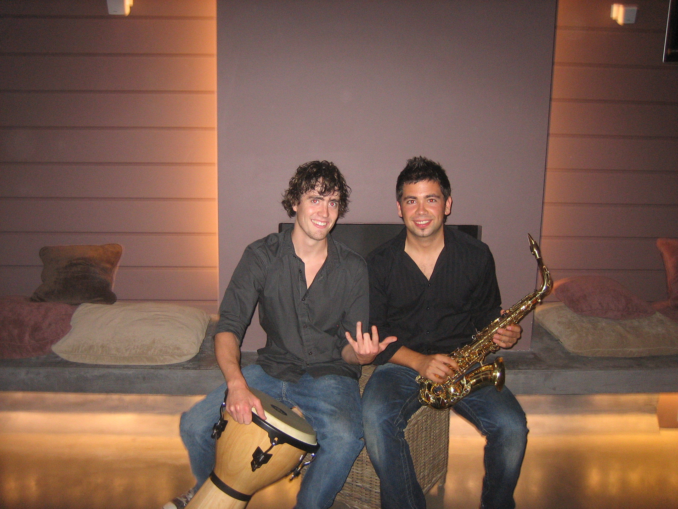 Djembe and sax