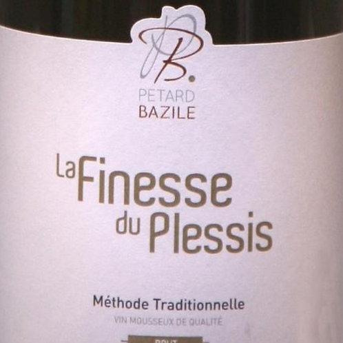 La Finesse du Plessis Méthode traditionnelle vin Mousseu de qualité Brut Blancx