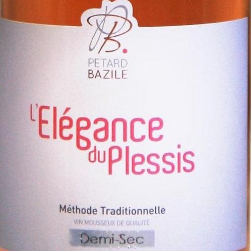 L'Elégance du Plessis Méthode traditionelle vin Mousseux de qualité Brut Rosé
