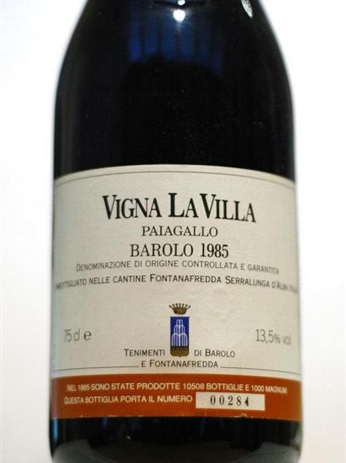 Fontanafredda Barolo Vigna La Villa Paiagallo 1985 Barolo