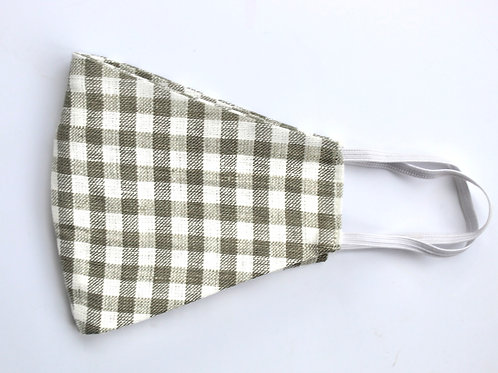 Sage Gingham Face Covering