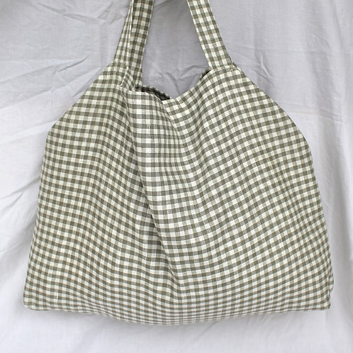 Sage Gingham Everyday Bag