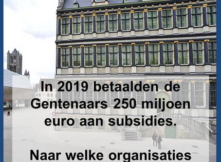 Gent subsidies 2019