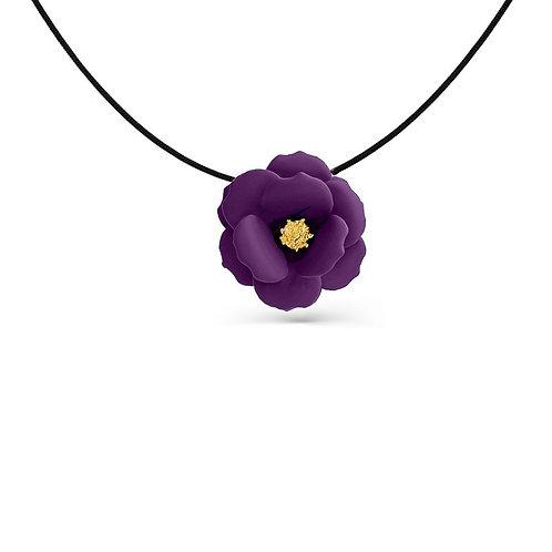 Pastel Purple Flower Pendant Necklace