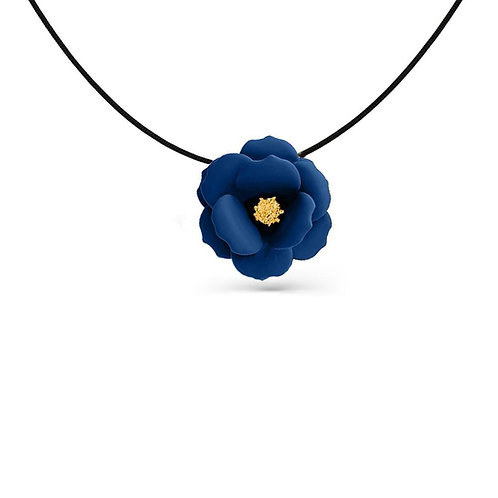 Pastel Blue Flower Pendant Necklace