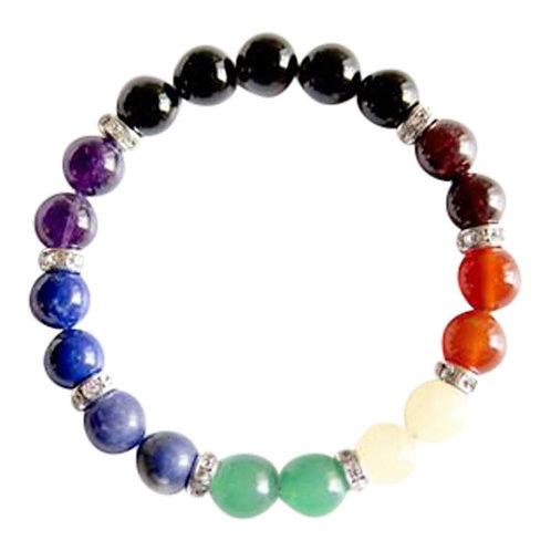 7 Chakras Sterling Silver Swarovski Bracelet