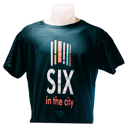 Navy T-shirt 'Six In The City'