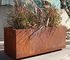 Corten_Steel_Rectangular_Long_Box_Plante