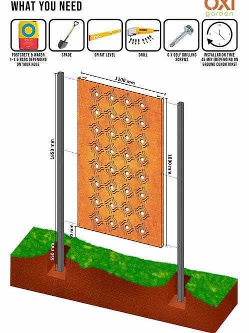 Steel Post Anthracite Grey  - 60 x 60 x 2.4m