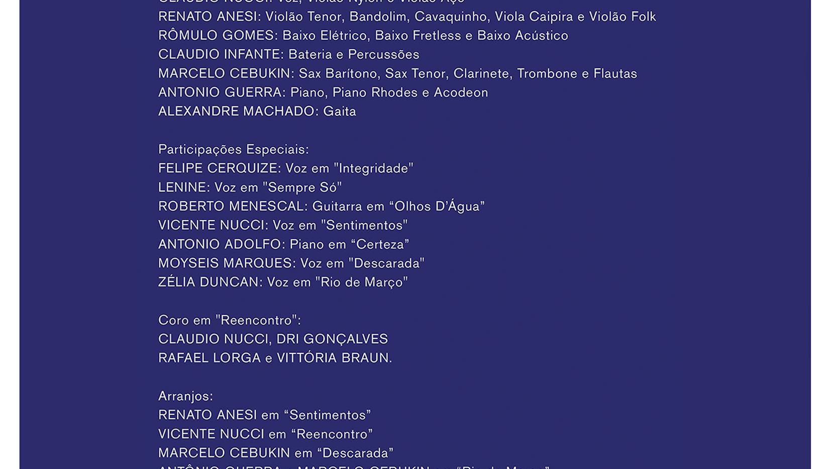 Músicos / Participações
