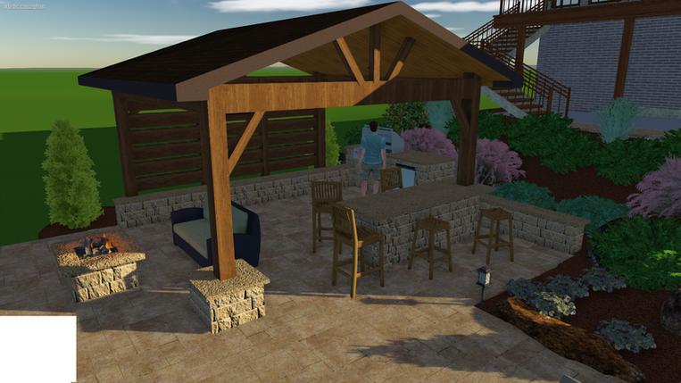 Outdoor Living 3D Concept Photo's