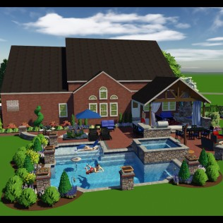 Outdoor Living Landscape Design 3D C