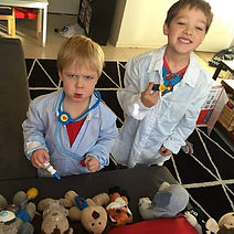 Pretend Play Threading Beads Play Idea D.O.T.S. Occupational Therapy Melbourne
