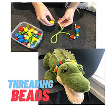 Threading Beads Play Idea D.O.T.S. Occupational Therapy Melbourne