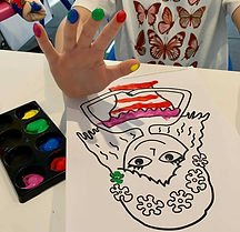Finger Painting Exercise Threading Beads Play Idea D.O.T.S. Occupational Therapy Melbourne