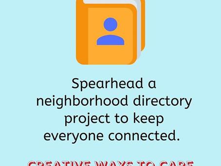 Making a Neighborhood Directory