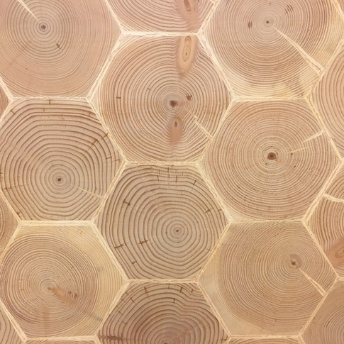 Douglas Fir Hexagon End Grain