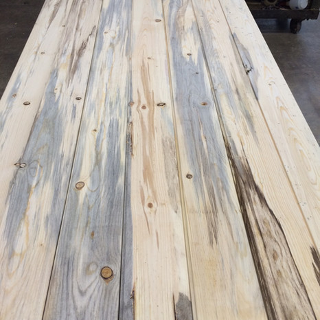 Fire Reclaimed Blue Stain Pine Flooring
