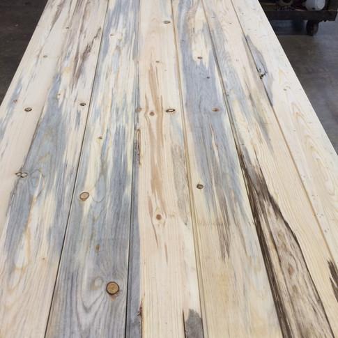 Fire Reclaimed Blue Stain Pine Flooring