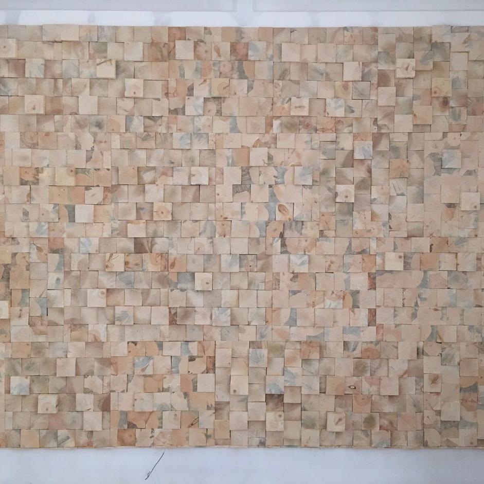 3D End Grain Pine Wall