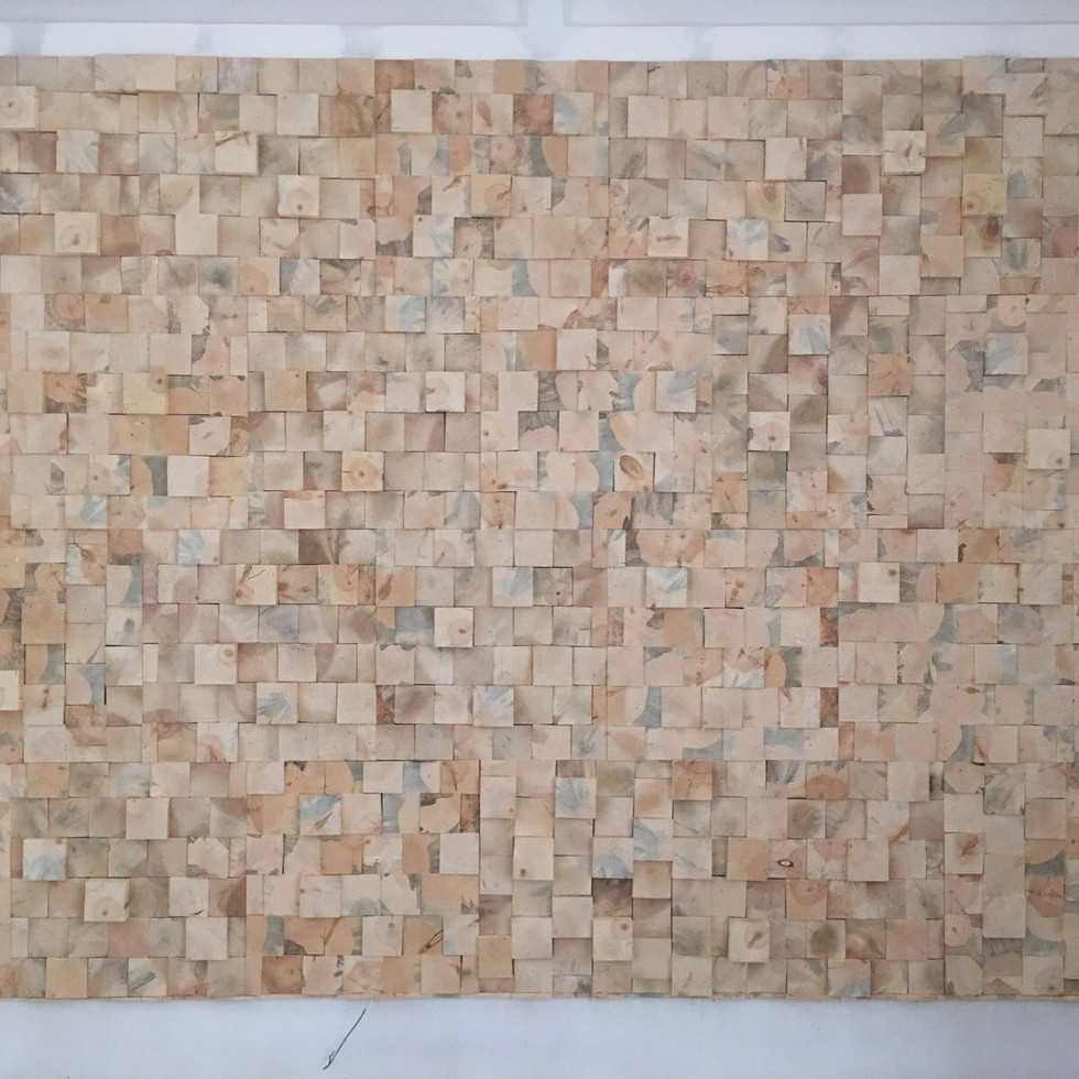 3D End Grain Pine Wall