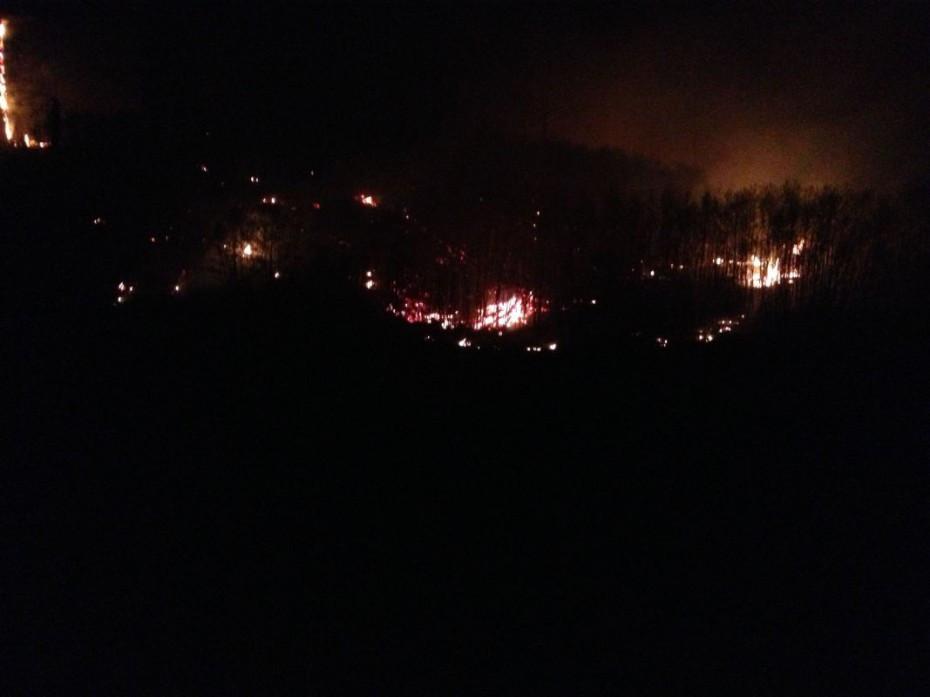 Burning in the night