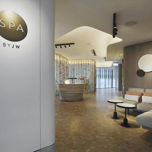 JW Marriott, Singapore, White Oak End Grain Flooring