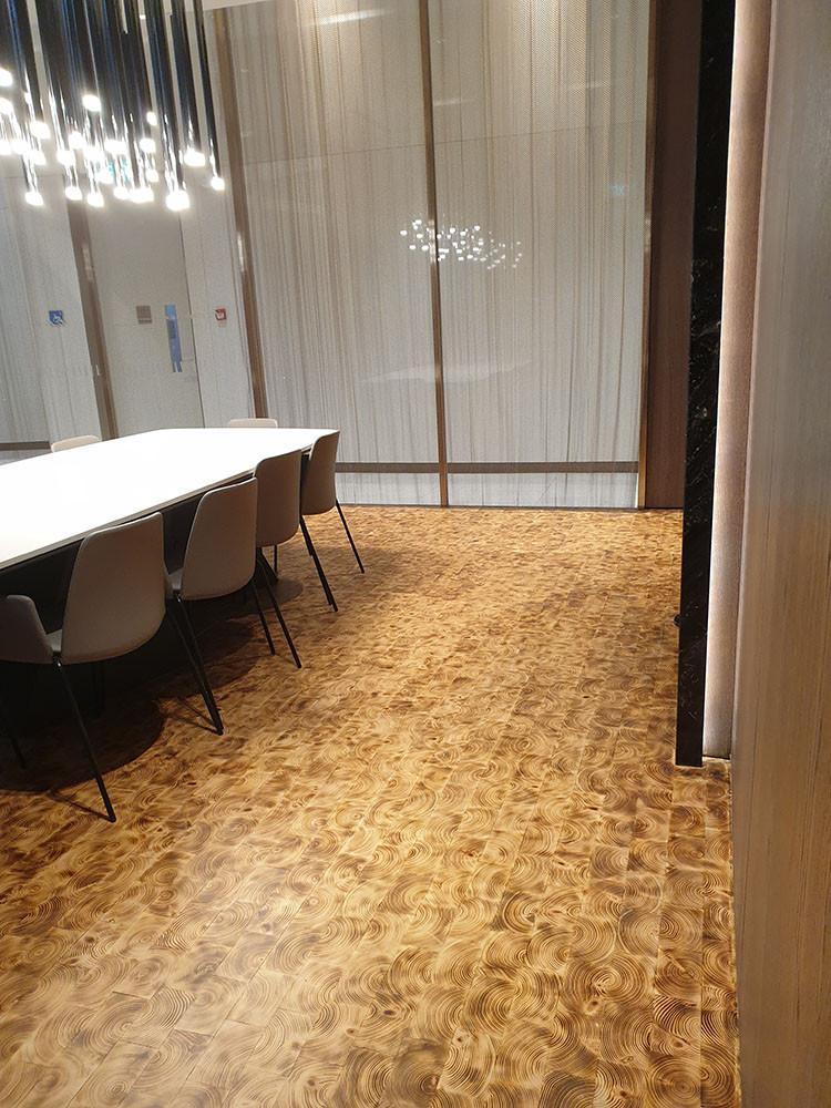 Douglas Fir End Grain Flooring, Singapor