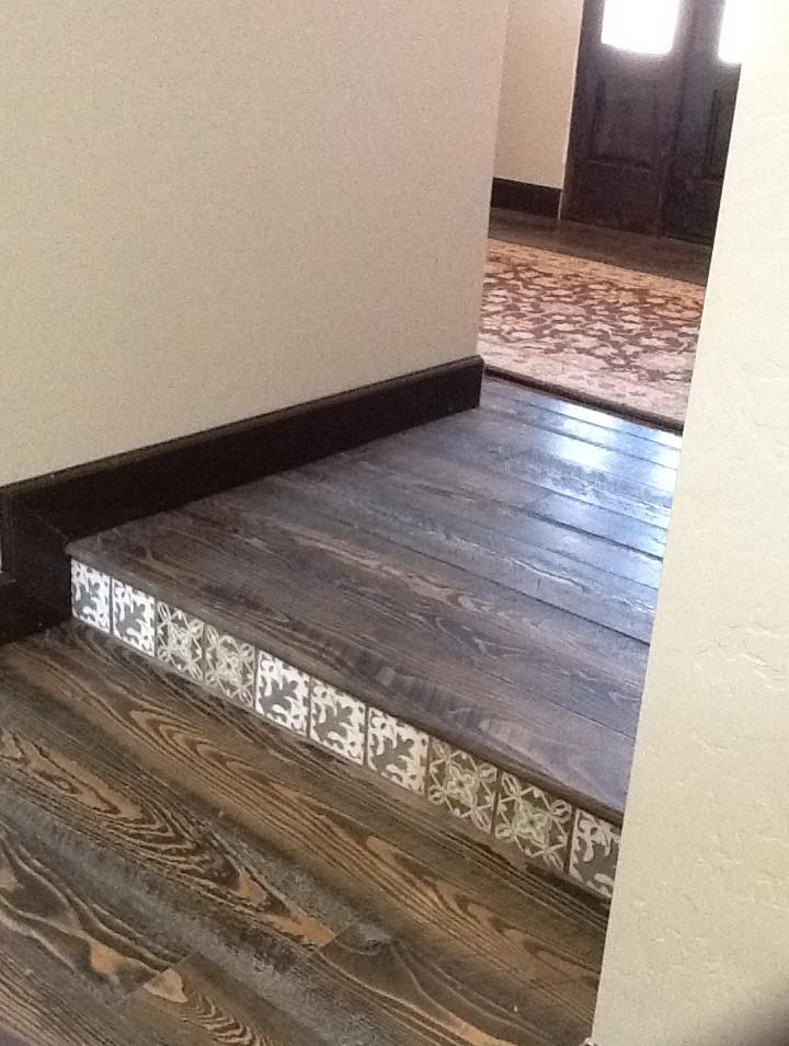 Douglas Fir Flooring, Circle Sawn with OW Zebra Stain
