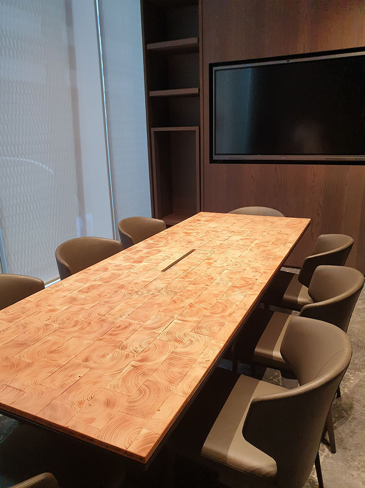 End Grain Table Top, BA Furnishings, Sin