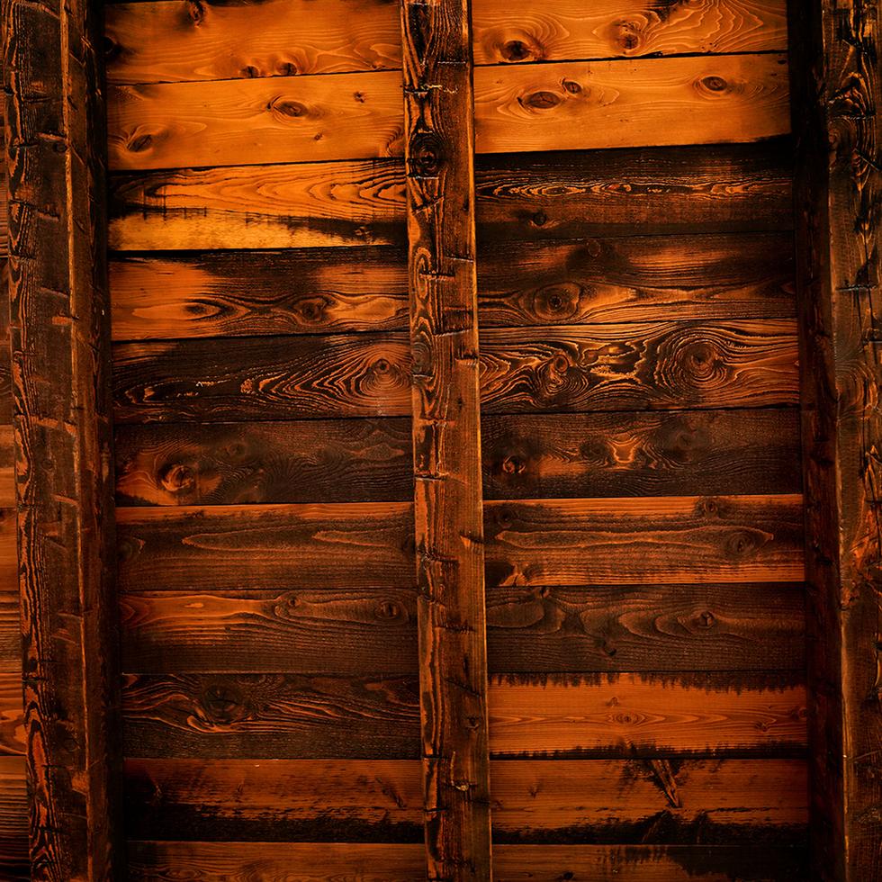 Custom pine ceiling and beam package