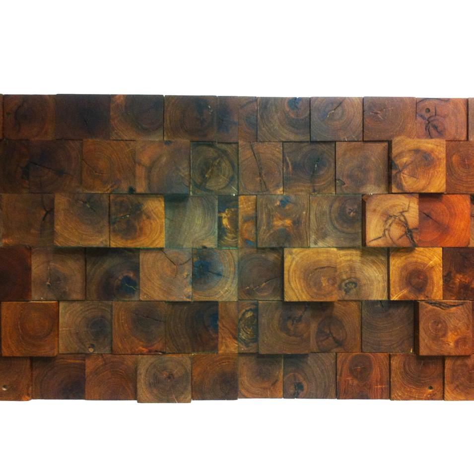 3D Mesquite End Grain Walls
