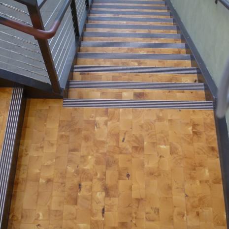 pinon end grain stairs