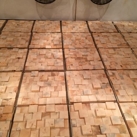 3D End Grain Pine Walls