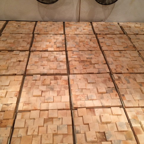 3D End Grain Pine Walls