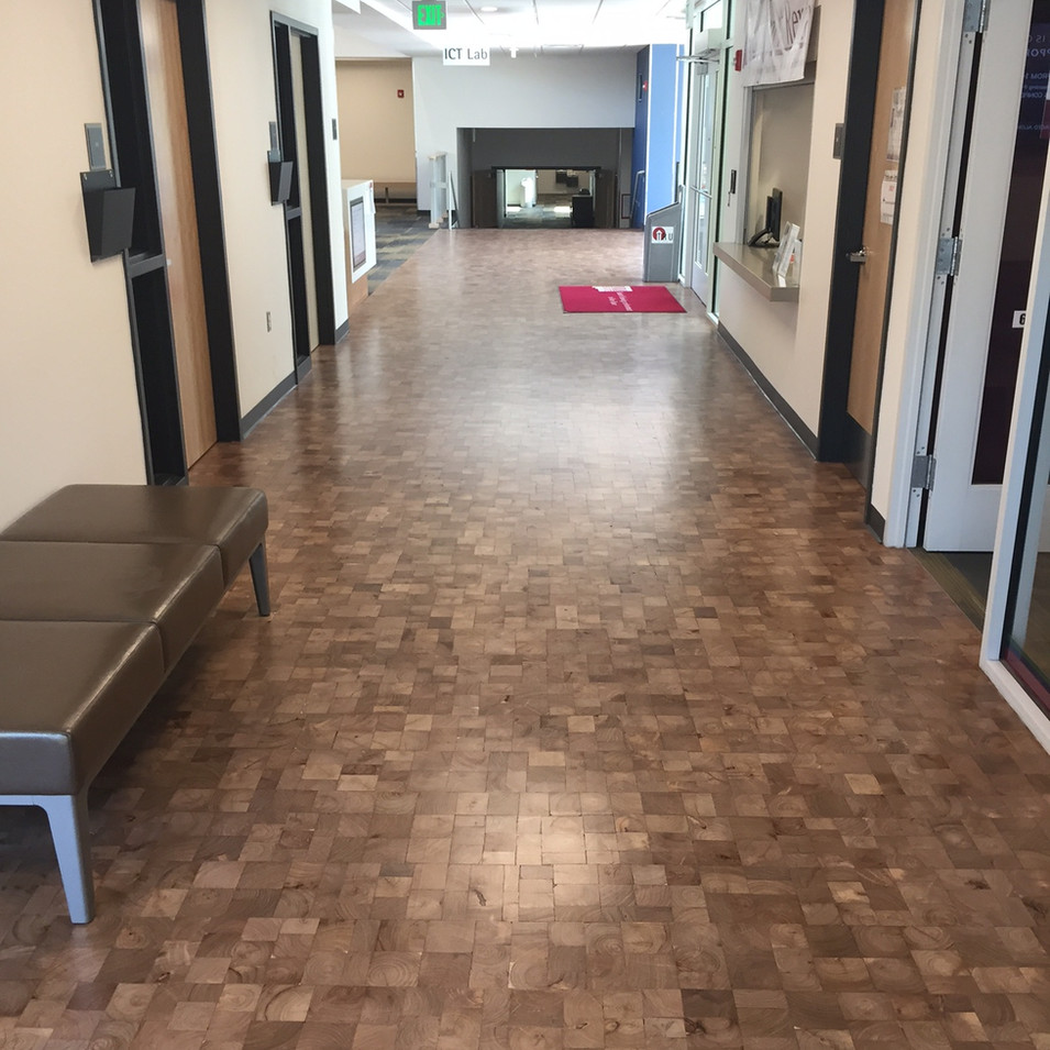 NMSU, Mesquite end grain flooring