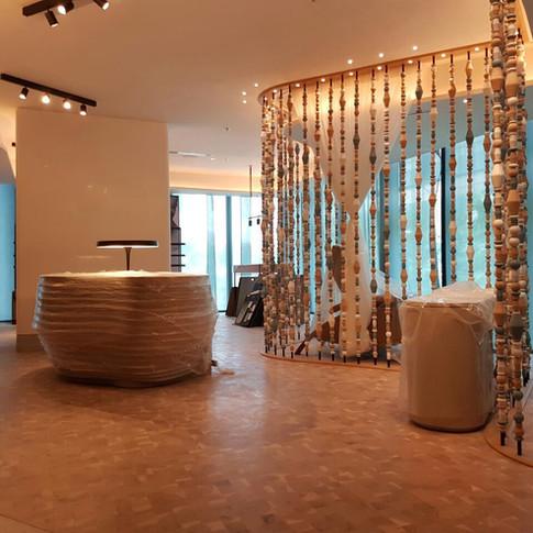 JW Marriott Spa, Singapore, White Oak End Grain Flooring