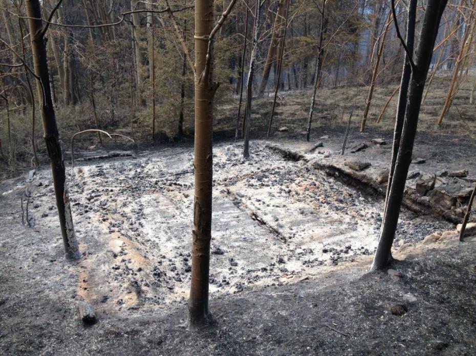 Burned historical sturcture