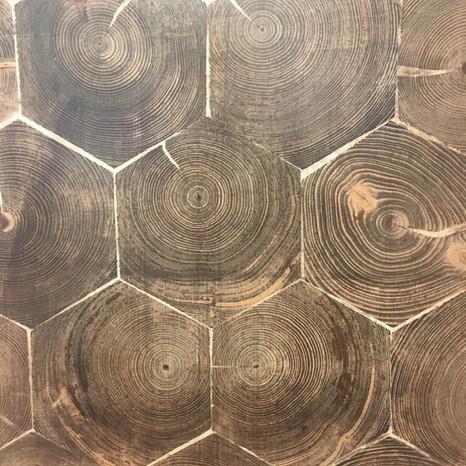 Douglas Fir Hexagon End Grain Flooring