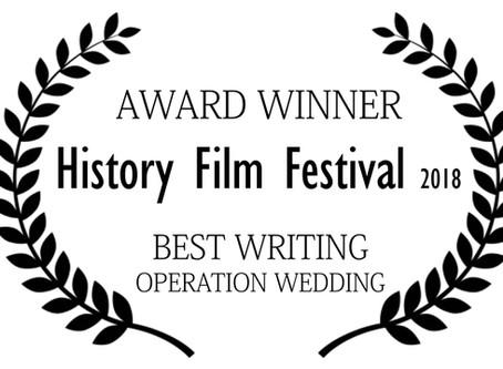 Best Writing Award- History and Film Festival,Croatia
