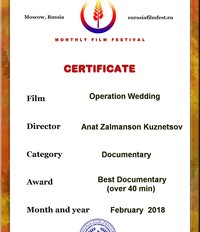 BEST_DOCUMENTARY award Operation Wedding