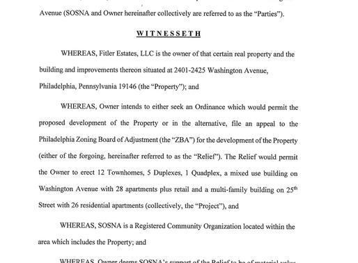 SOSNA CBA with Fitler Estates LLC for 2401 Washington Avenue (PDF)